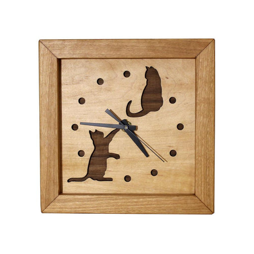 Clock - Box Clock - Cats at Play