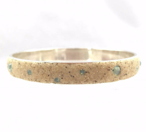 Bracelet - Bangle - Pacific Blue Opal - Wide - Large