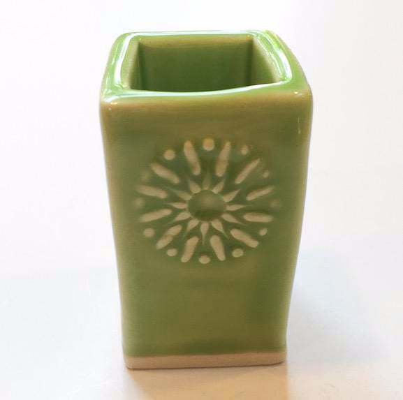 Bud Vase - Medium - Dark Lime - Floral