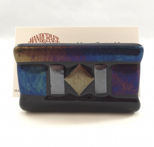 Business Card Holder - Midnight Iridescence