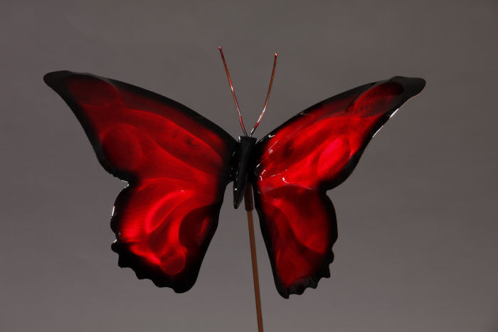 Garden Stake - Butterfly - Red