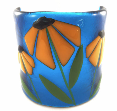 Candle Covers with Tea Light - Blue - Sunflower
