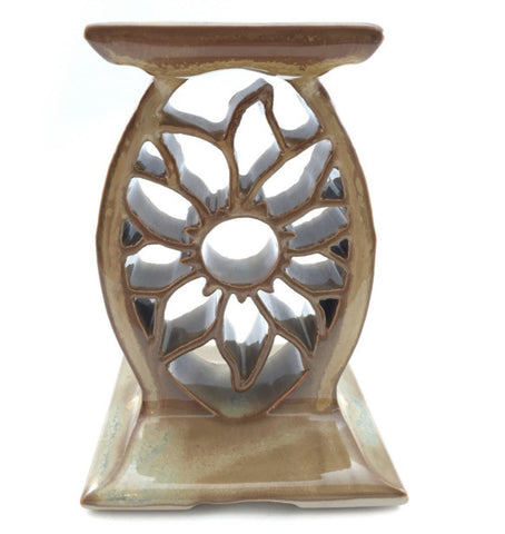 Candle Stand - Sunflower - Gold