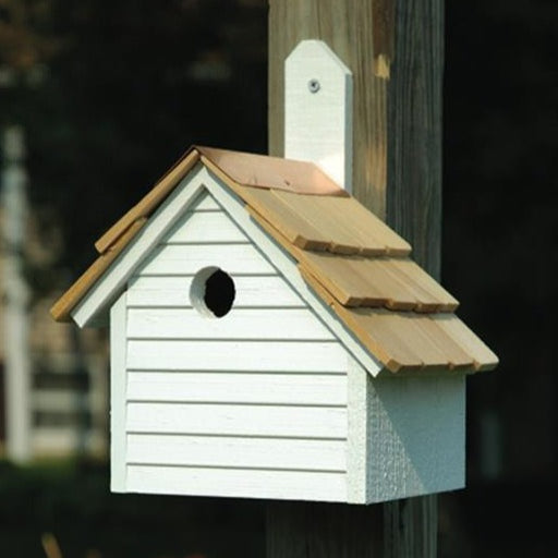 Bird House - Cape Cod Wren - White Washed