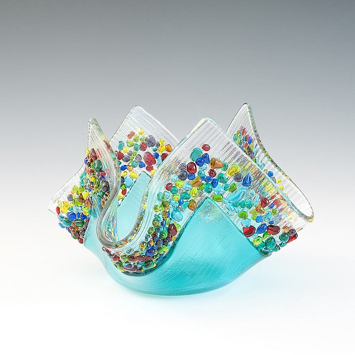 Glass Votive - Caribbean Blue