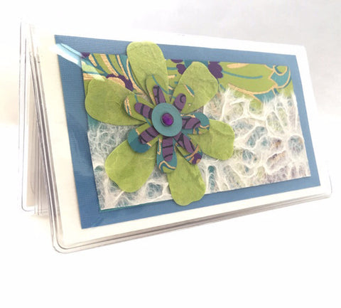 Check Book Cover - Lime Flower - 735