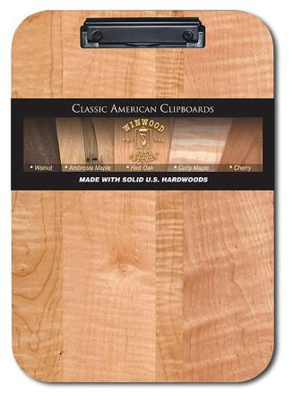 Clipboard - Low Profile Clip - Curly Maple