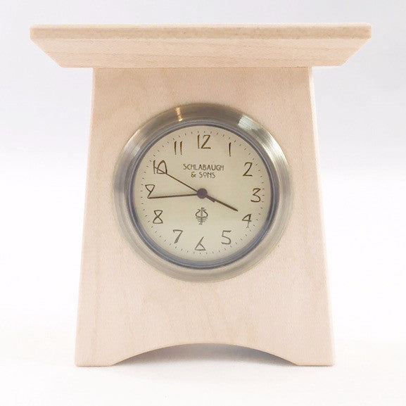Clock - Mini Mantel Clock - Maple - MM-12