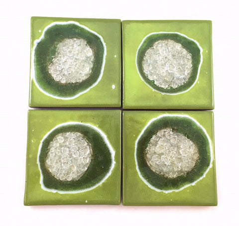 Coasters with Glass - Apple