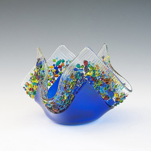 Glass Votive - Cobalt Blue