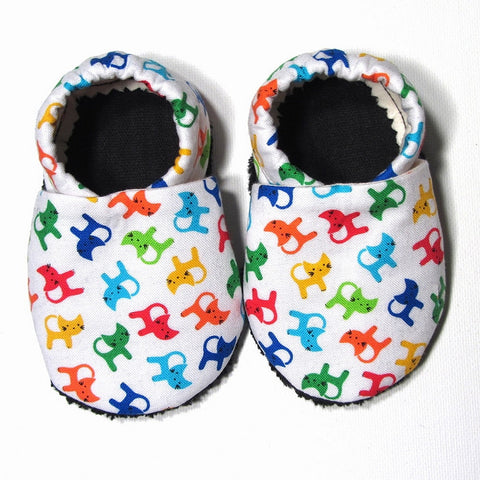 Baby Shoes - 6-12 months - Colorful Cats