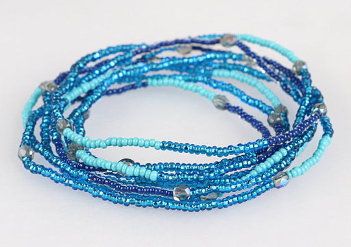 Convertible Necklace - Mixed Blues - NN309