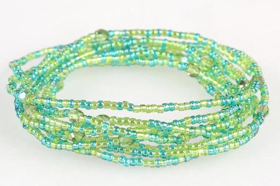 Convertible Necklace - Light Greens and Blues - NN363