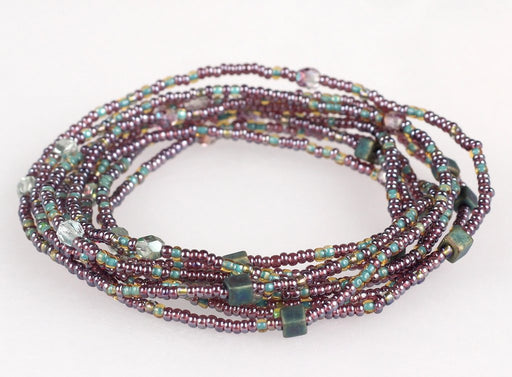 Convertible Necklace - Violet/Green - NN416