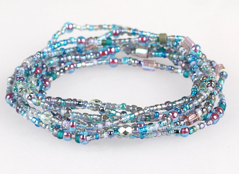 Convertible Necklace - Mixed Light Blues - NN419