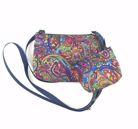 Cross Body Bag/Change Purse - Paisley Delight