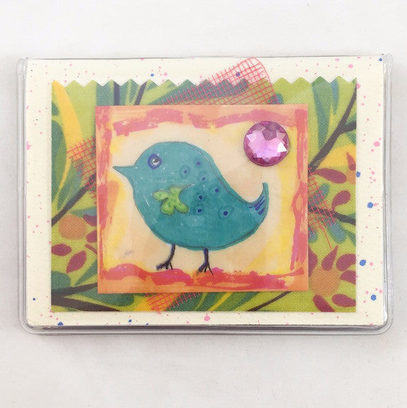 Credit Card Case - Little Blue Bird - 640