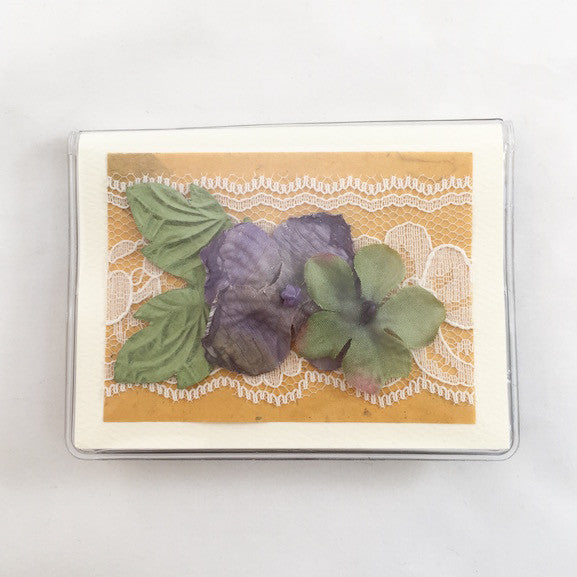 Credit Card Case - Pansies - 288