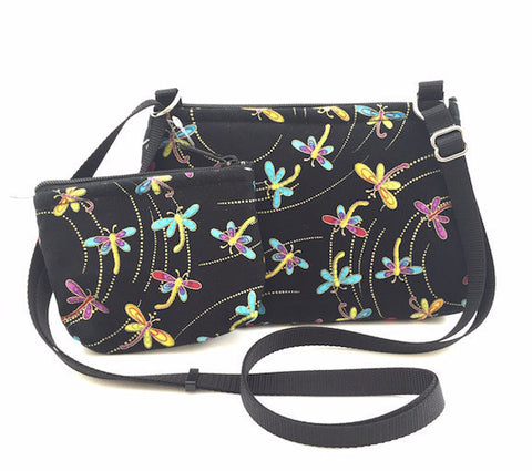 Cross Body Bag/Change Purse - Dragonfly