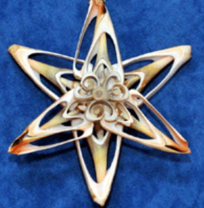 Ornament - Cut Shell Star - Plain
