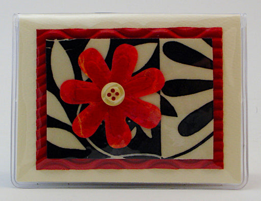 Credit Card Case - Red Flower - 622