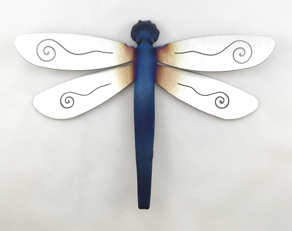 Garden Stake   Dragonfly   Single Swirl