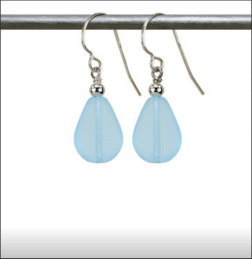 Earrings - Raindrop - Pale Aqua - ERA-61
