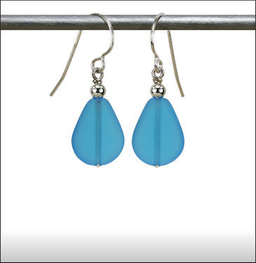 Earrings - Raindrop - Aqua Blue - ERA-62