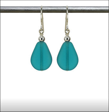 Earrings - Raindrop - Aquamarine - ERA-65