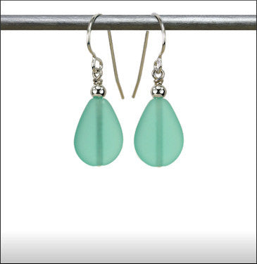 Earrings - Raindrop - Sea Green - ERA-67