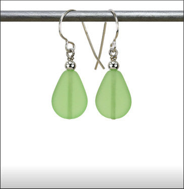 Earrings - Raindrop - Pale Green - ERA-70