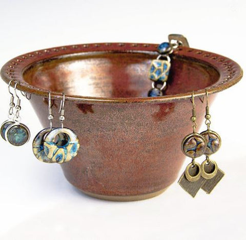 Earring Bowl - Rust
