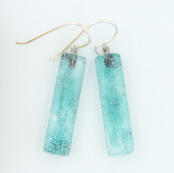 Earrings - Aqua Medium Bars - Liquid - GC-015