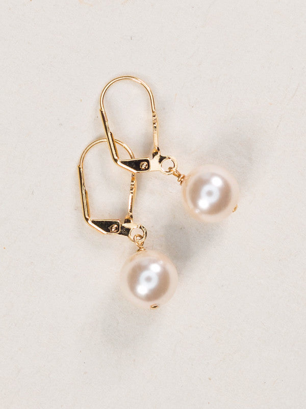 Earrings - Classic - Pearl with Gold - 60252