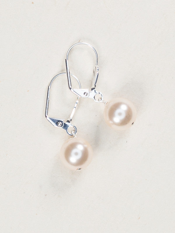 Earrings - Classic - Pearl with Silver - 60258