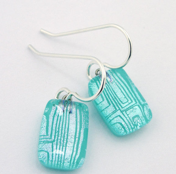 Earrings - Comic Genius Drops - Aqua - BM-039