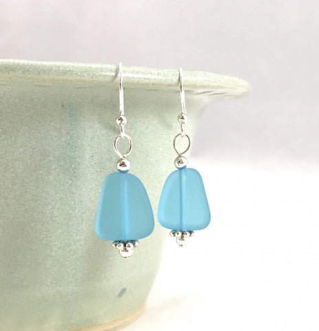Earrings - Flat Freeform Basic - Small - Pacific Blue
