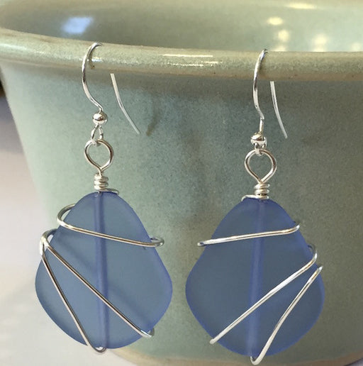 Earrings - Freeform Wraps - Sapphire Blue