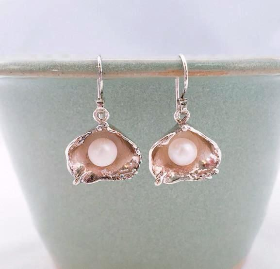 Earrings - Pearl In The Oyster - SS - E124