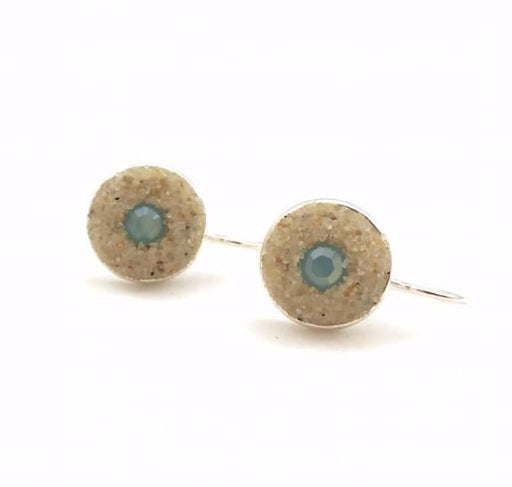 Earrings - Round Drop - Pacific Blue - Cape Cod