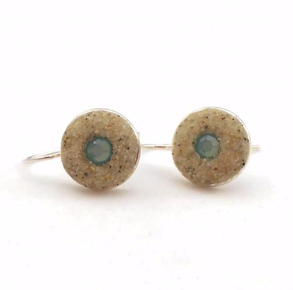 Earrings - Round Drop - Pacific Opal - Nauset