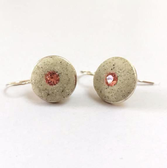 Earrings - Round Drop - Rose Peach - Skaket