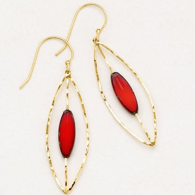 Earrings - Sasha Small Hoop - Chili - 12642