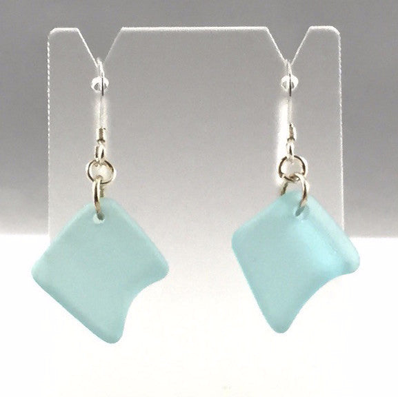 Earrings - Single Sea Glass - E00 - Aqua