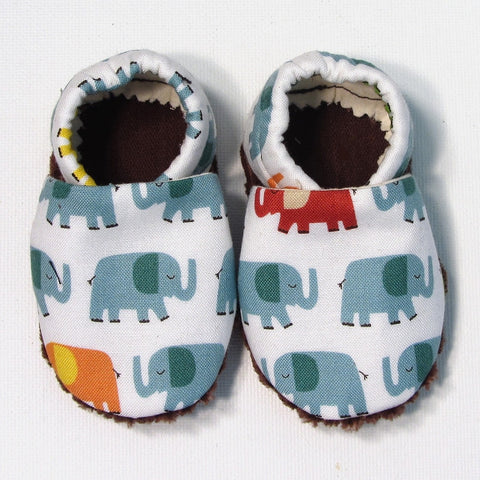Baby Shoes - 6-12 months - Elephants
