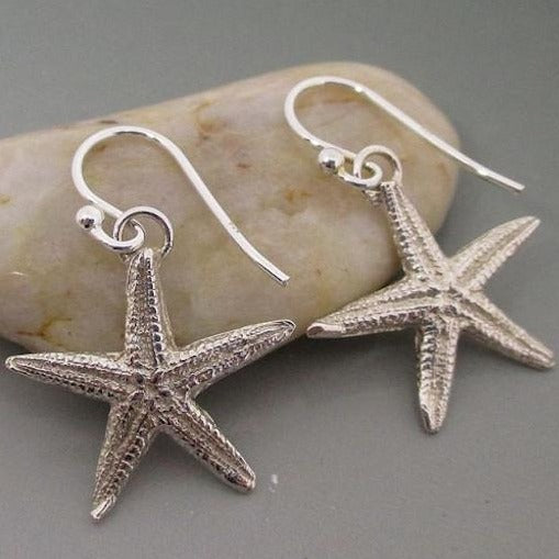 Earrings - .999 Fine Silver Starfish