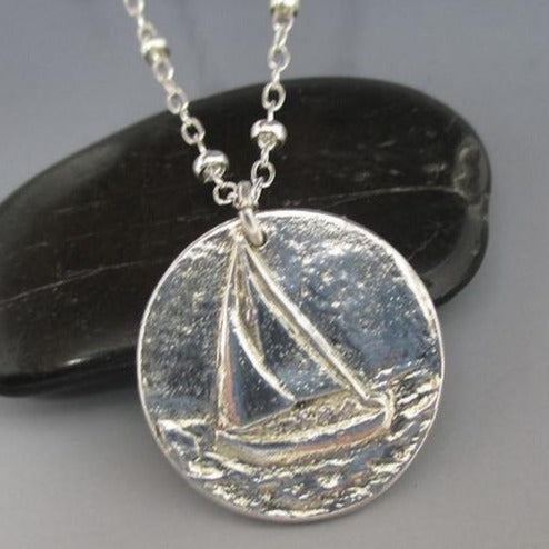 Necklace - .999 Fine Silver Sailboat Sterling Silver