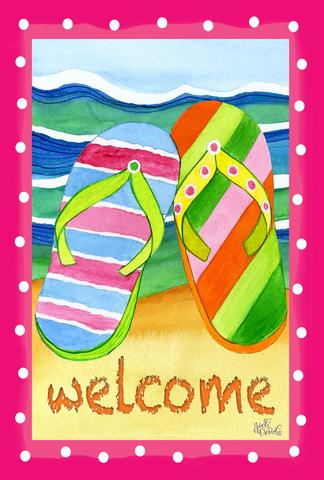 Garden Flag - Filp Flop Welcome - 1110217