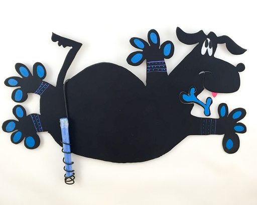 Magnetic Chalkboard - Flying Dog - Blue