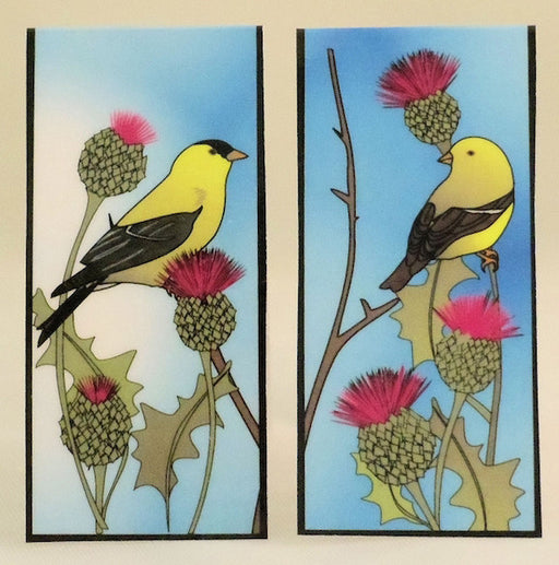 Magnetic Bookmark - Gold Finch and Thistle - MBK267